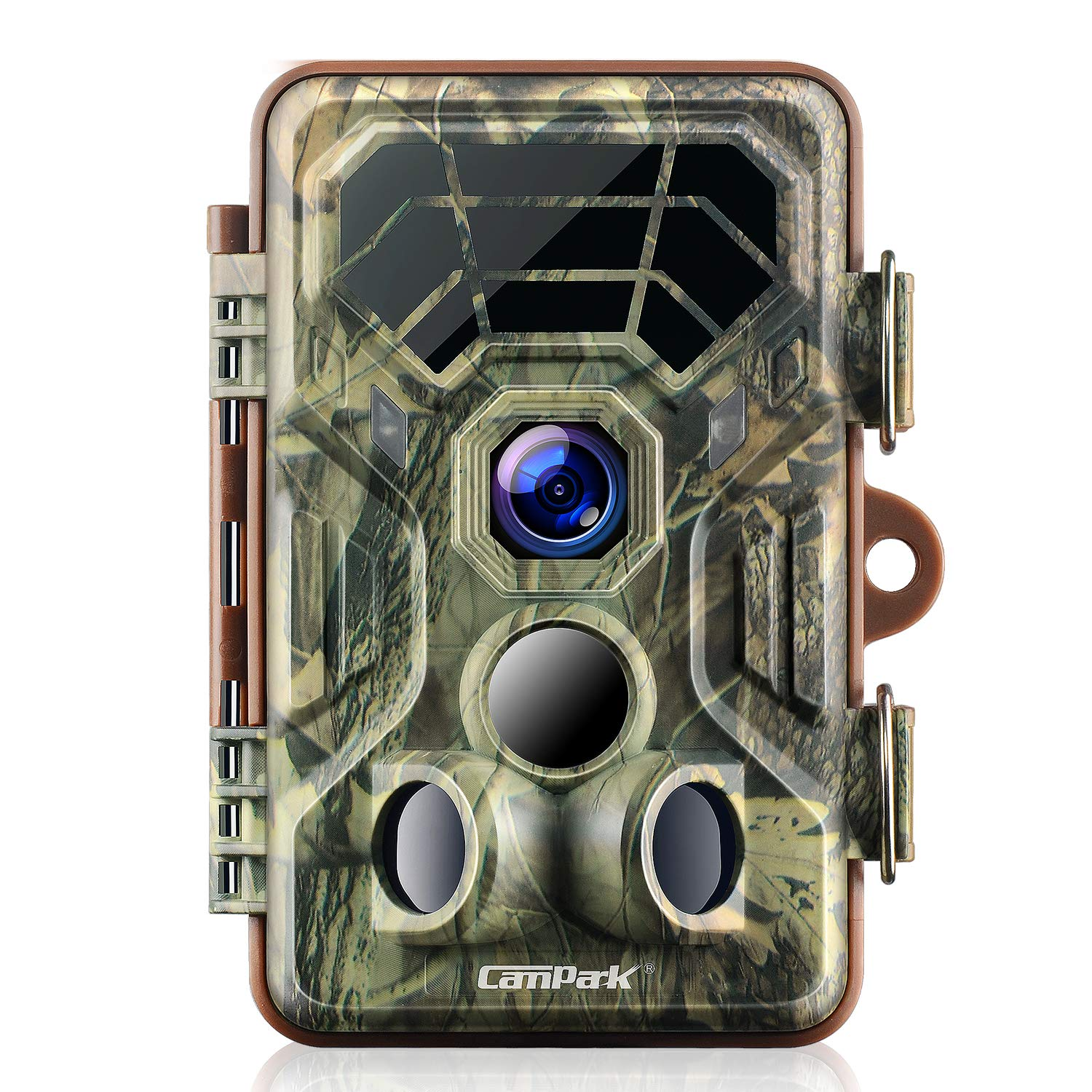 Campark Trail Camera 14MP 1080P IP66 Waterproof Hunting Game Camera for Wildlife Monitoring with 2.4'' LCD 120° Detecting Range Motion Activated Night Vision by Campark