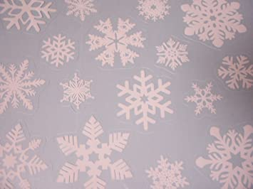 Amazoncom Winter Reusable Window Clings  Snowflakes  Clings - Snowflake window stickers amazon