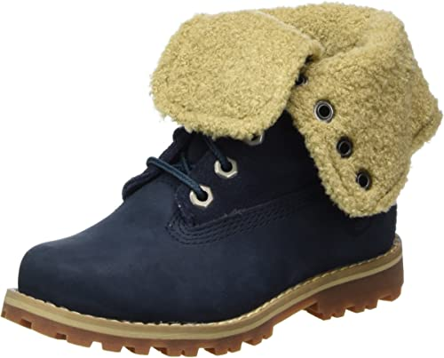 Details about Timberland Authentics 6 inch Shearling Navy Youth Nubuck Suede Mid Calf Boots