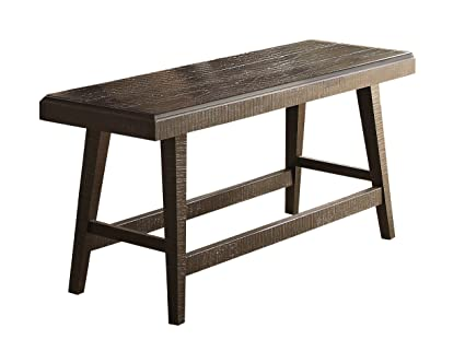 Homelegance Fenwick 60u0026quot; Rustic Counter Height Dining Bench, ...