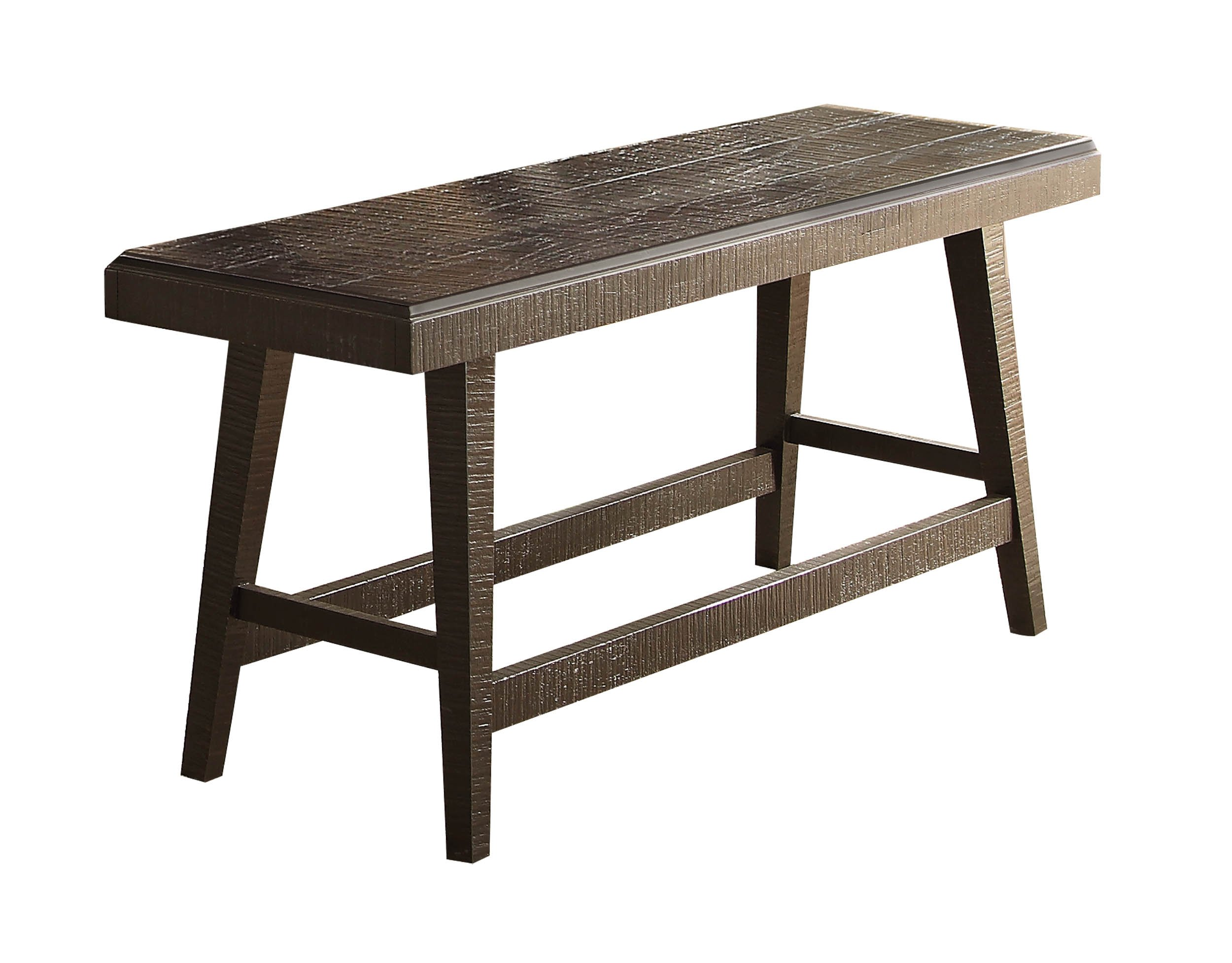Homelegance Fenwick 60'' Rustic Counter Height Dining Bench, Gray