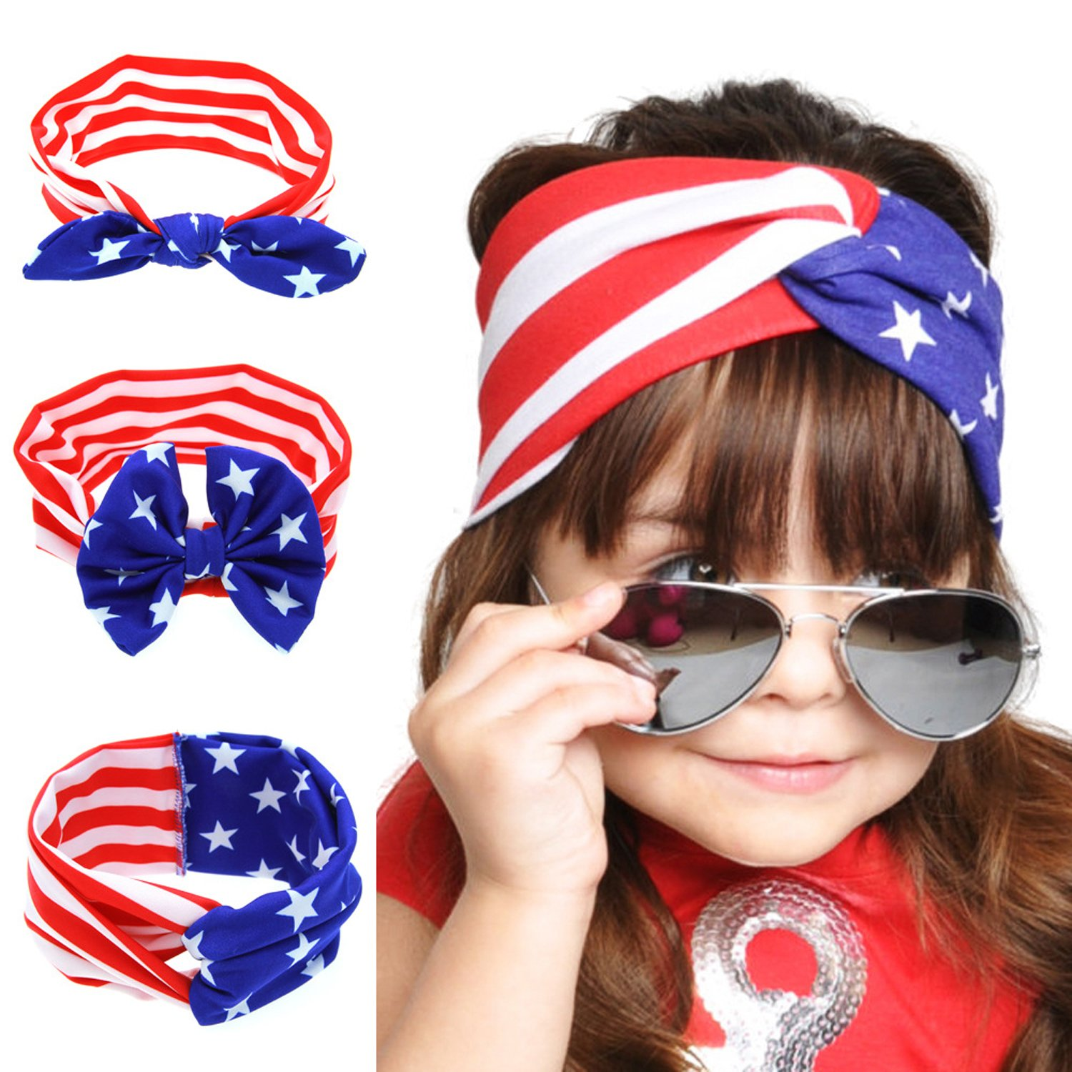 American US Flag Bandana Headband - Show Your American Pride - Bandana Headband US Bandana USA Flag