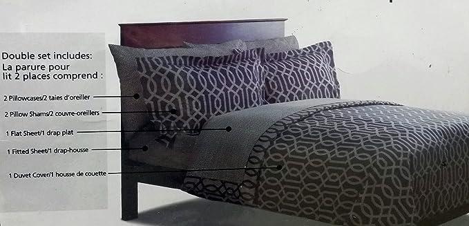Mainstays 7 Piece Duvet Cover and Sheet Set - 100% Cotton: Amazon.ca ...