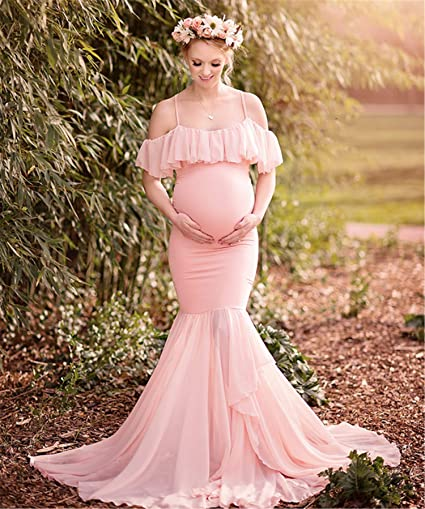 Unique F Vestido Largo Para Mujeres Embarazadas Vestido Para