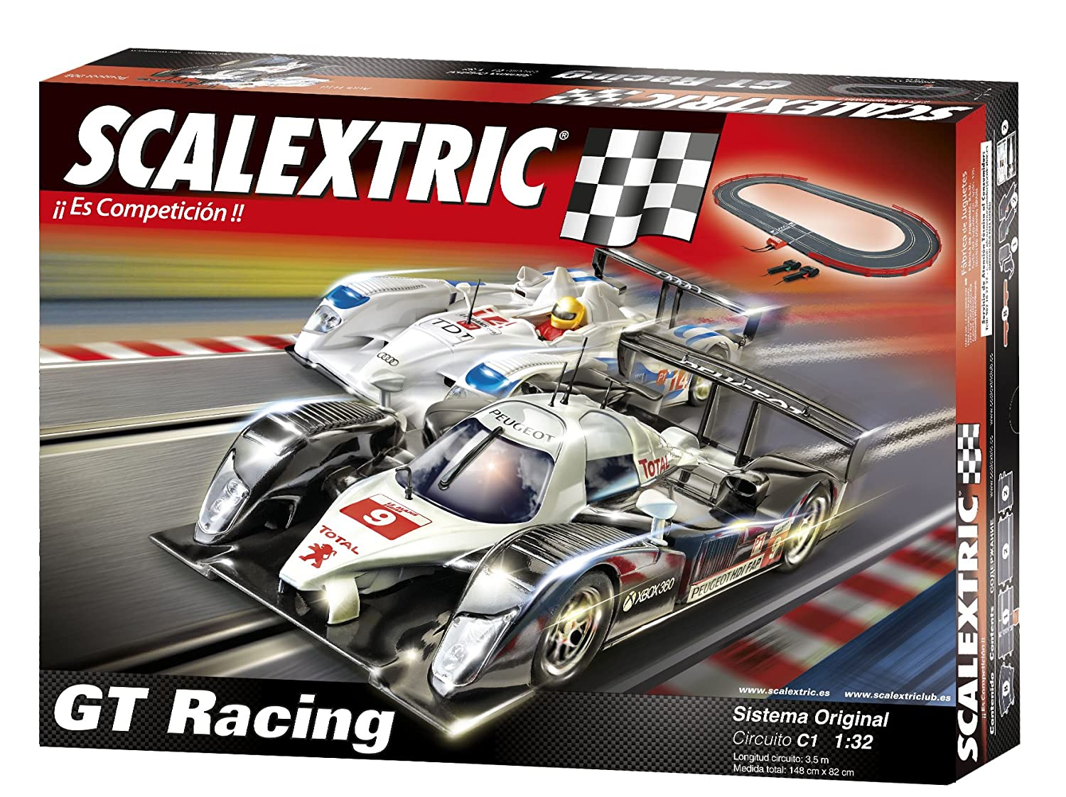 Scalextric Original Circuito C GT Racing con pistas nuevas digitalizables AS