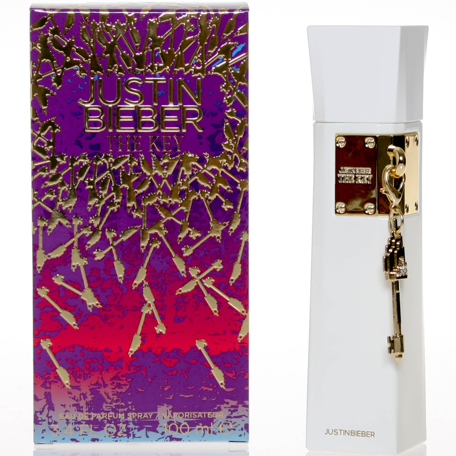 Justin Bieber Key Eau de Parfum Spray, 3.4 Ounce
