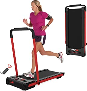 FYC 2-in-1 Folding Treadmill for Home Under Desk Treadmill Exercise Treadmill Workout Electric Foldable Running Machine Portable Compact Treadmill for Running and Walking Home Gym, Installation-Free