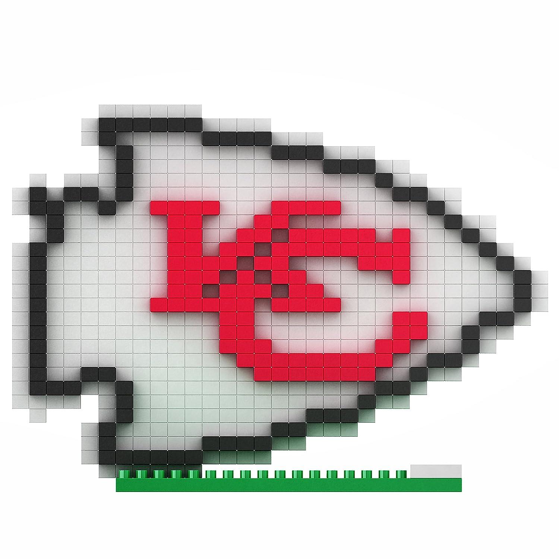 Kansas City Chiefs NFL Football Team 3D BRXLZ Logo Puzzle NFL BRXLZ ...