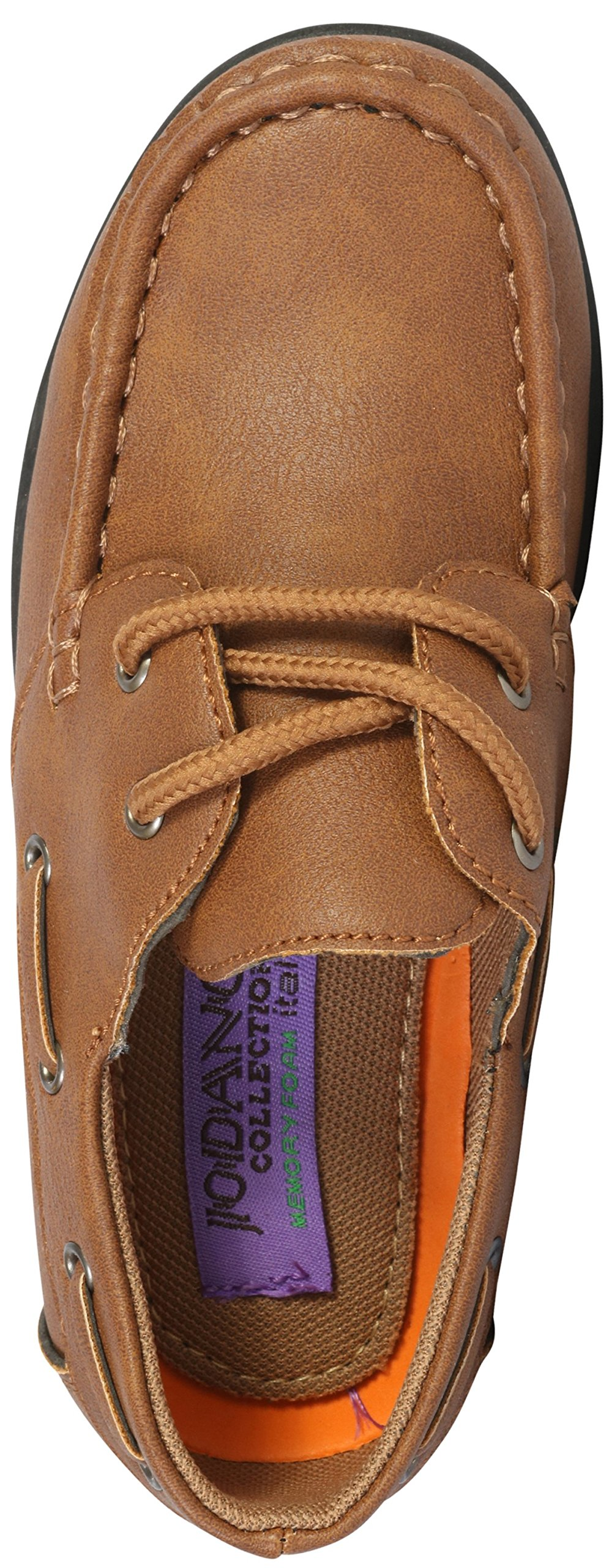 Jodano Collection Boys Slip on Boat Shoes with Memory Foam Insole, Tan, 10 M US Toddler' by Jodano Collection (Image #3)