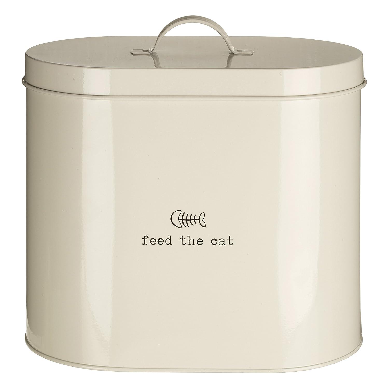 Premier Housewares Boîte de stockage de nourriture pour animaux domestiques Avec cuillère Naturel, Métal, crème, 2.8 Litre 0507525 0507525_Cream