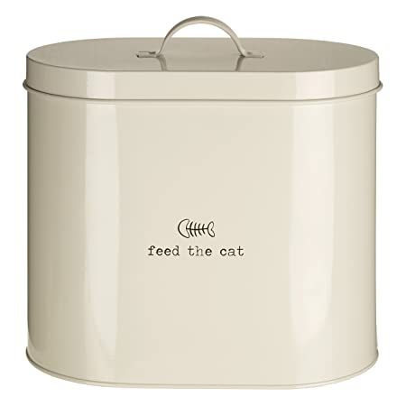 Delightful Premier Housewares Adore Pets Feed The Cat Food Storage Bin With Spoon, 6.5  L