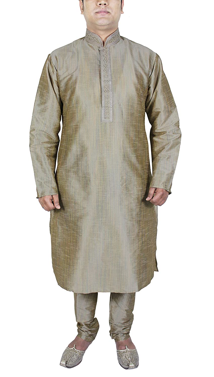 Yoga Kurta Pajama Silk Party Wear Casual Indian Wedding Fashion Dress -M
