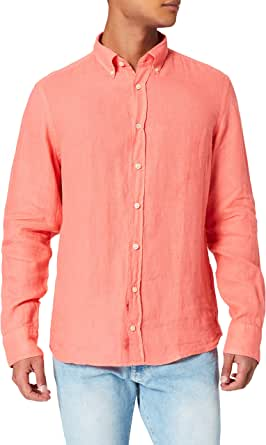 Hackett London Garment Dye Linen BS Camisa para Hombre