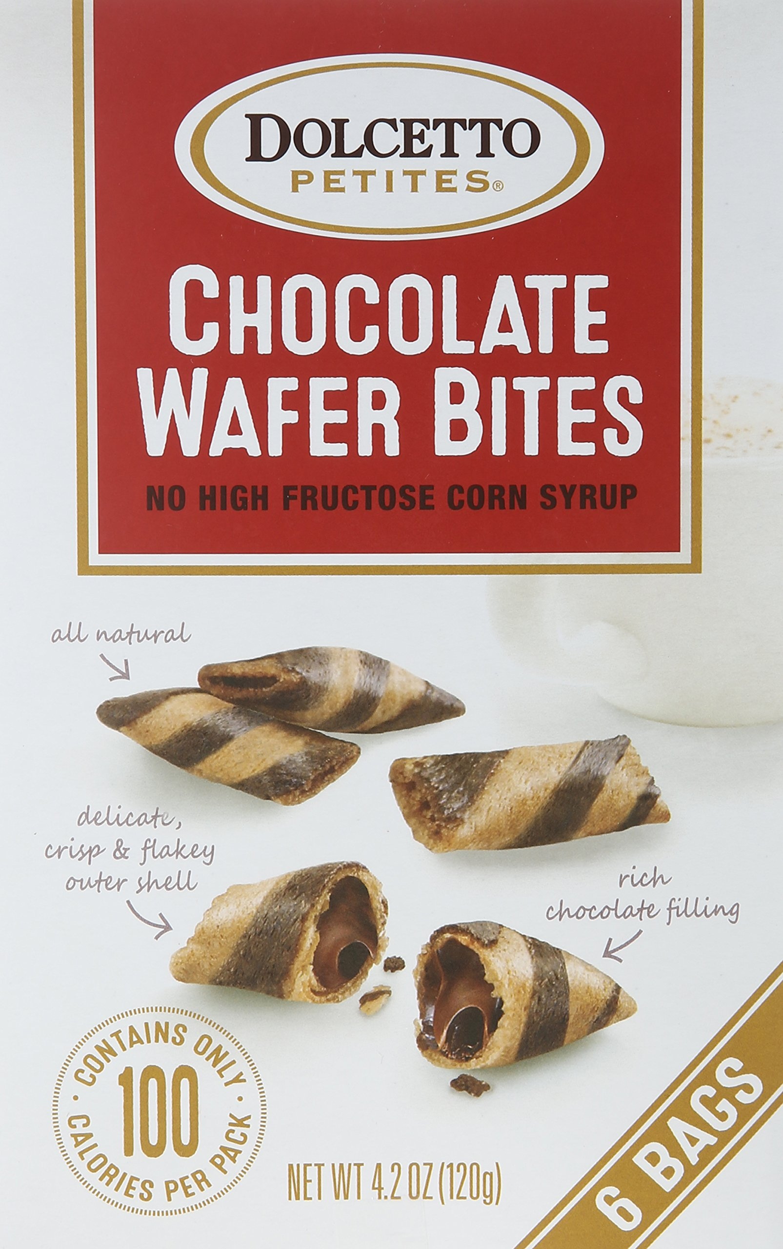 Dolcetto Wafer Petites, Chocolate, 4.2 Ounce Boxes (Pack of 12)