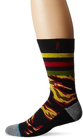 Stance Men's Montgomery Crew Socks, Black, Sock Size:10-13/Shoe