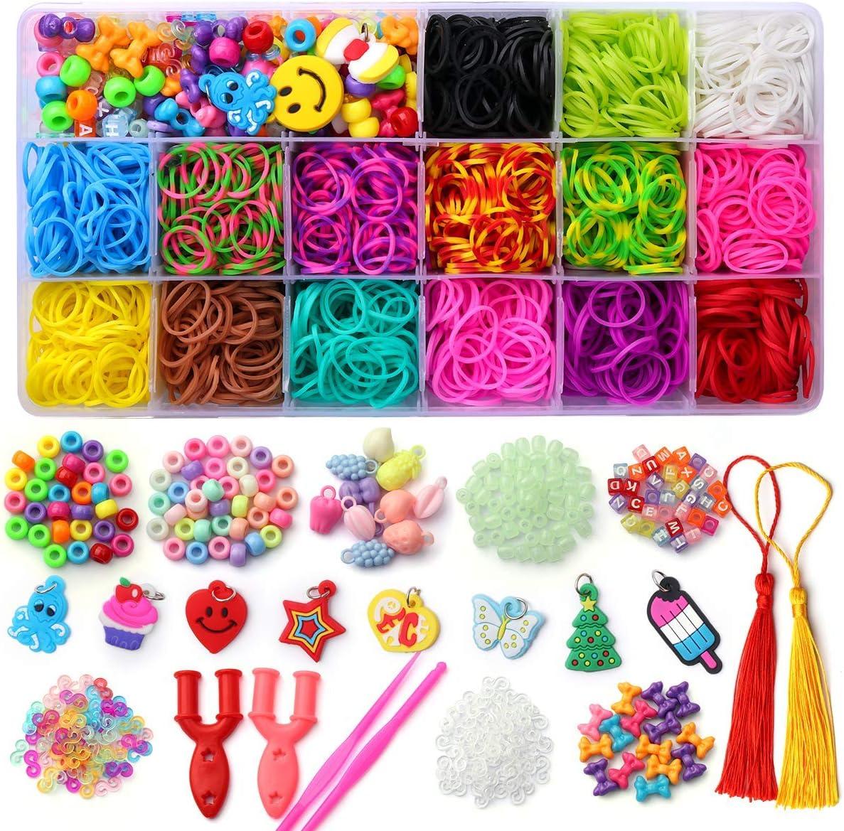 Mocoosy Loom Rubber Bands for Kids Bracelet Making Kit, Over 2200 Colored Loom Bands Refill Set, DIY Rainbow Rubber Bands Crafts for Girls Boys Great Gifts…: Furniture & Decor