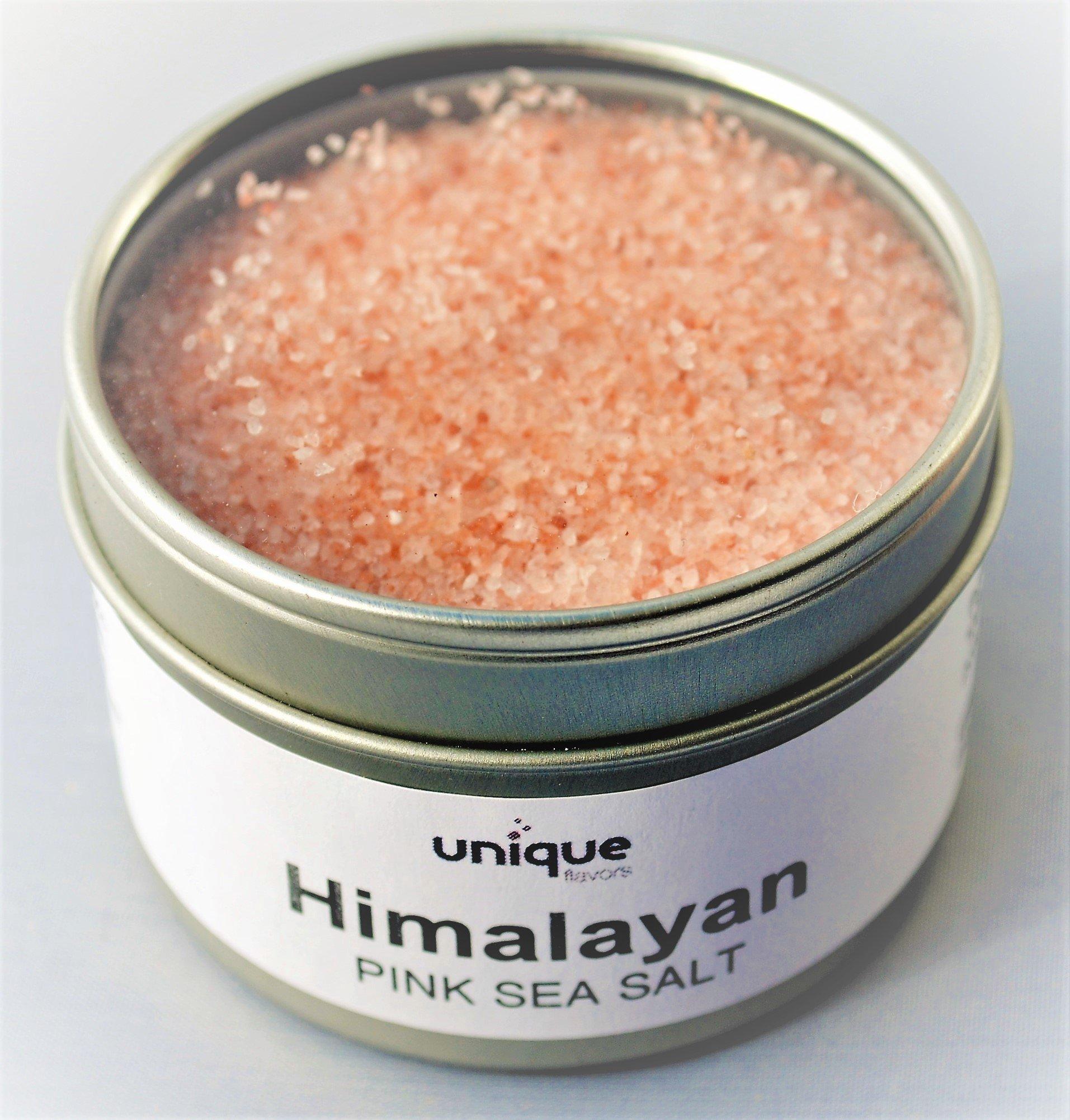 Himalayan Pink Sea Salt all natural 4 oz tin can