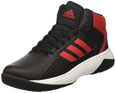 adidas NEO Boys' CF Ilation Mid K Basketball-Shoes, Black/Scarlet/