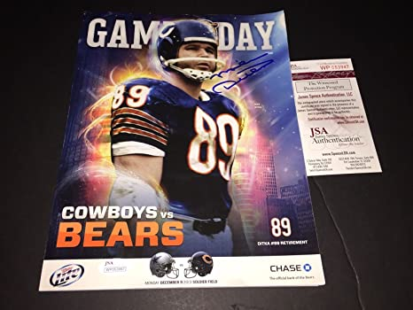 check out 32f94 b88da Mike Ditka Chicago Bears Saints Autographed Signed Game ...