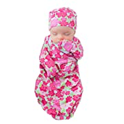 Baby Be Mine Newborn Gown and Hat Set Layette Romper Coming Home Outfit (Newborn, Brooke)