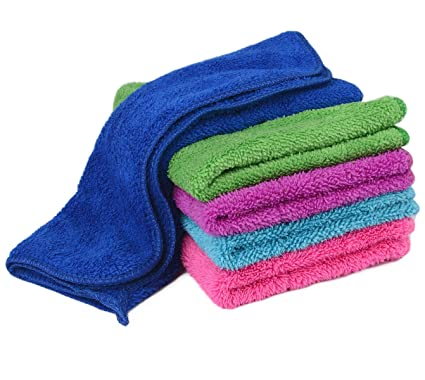 zelta kitchen hand towel dish cleaning cloth with hanging loop super water absorption double deck - Kitchen Hand Towels