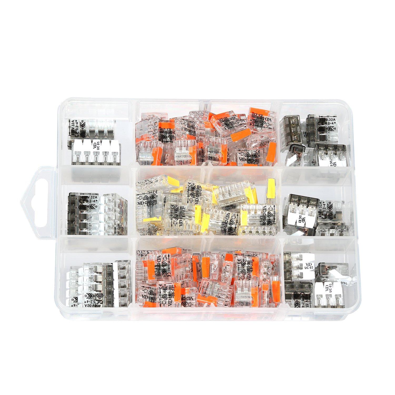 ViD - Surtido 150 unidades palanca pinzas UC y cajas de conexiones abrazadera C2073 en caja de plá stico Viola Direkt GmbH