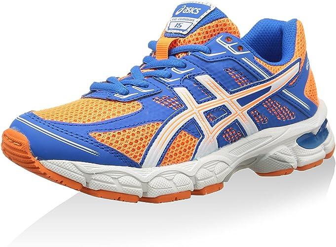 Asics Zapatillas Deportivas Running Gel-Cumulus 15 GS Naranja/Blanco/Azul Royal EU 33 (US 1.5): Amazon.es: Zapatos y complementos