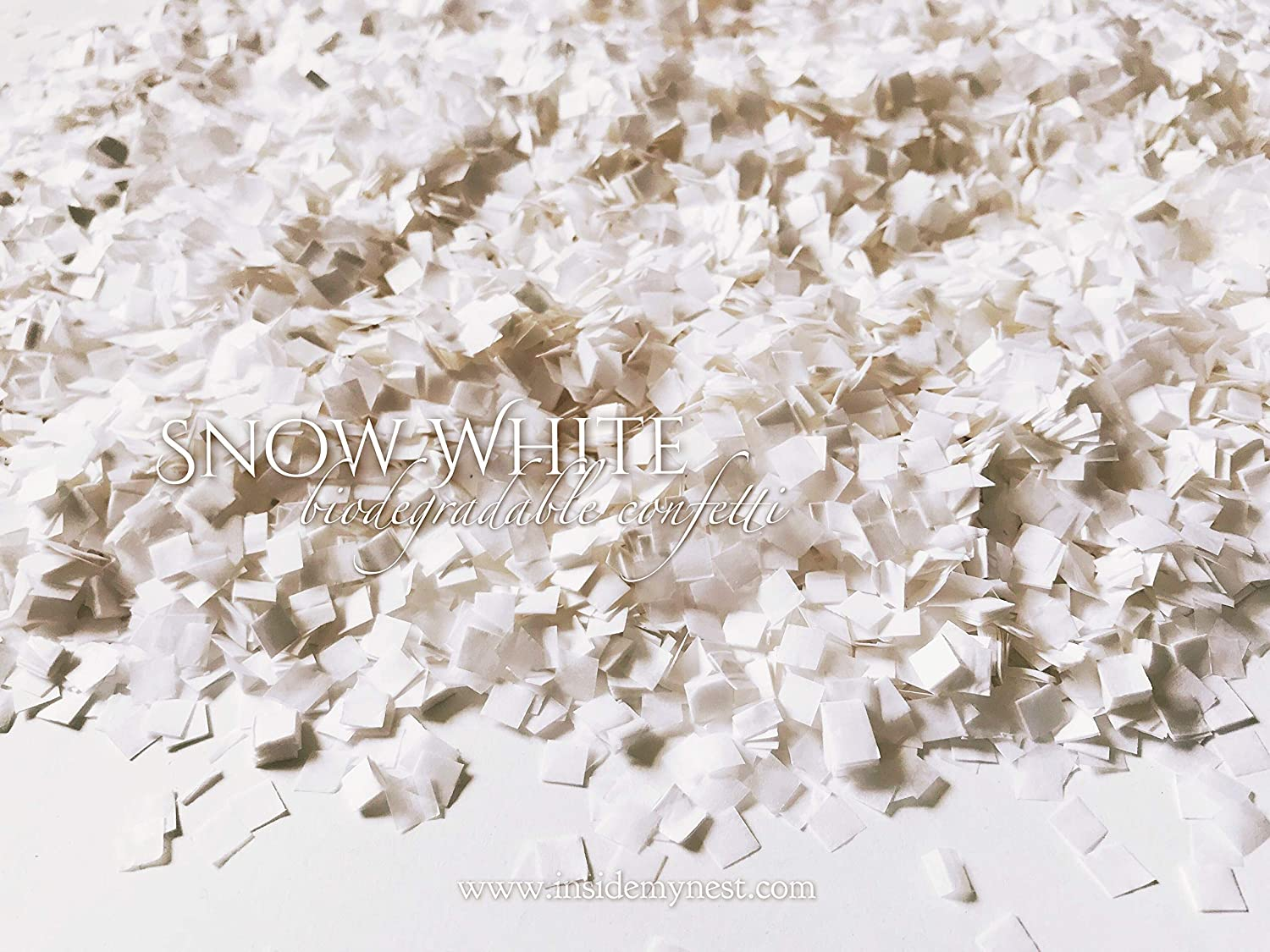 50g Snow White Confetti Party Decorations Winter Wedding Baby Shower Throwing Table Decor