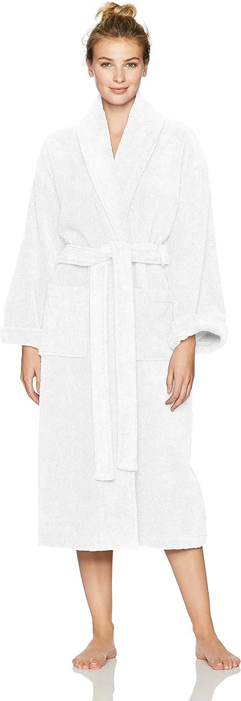 Pinzon Terry Bathrobe 100% Cotton, White, Large / X-Large
