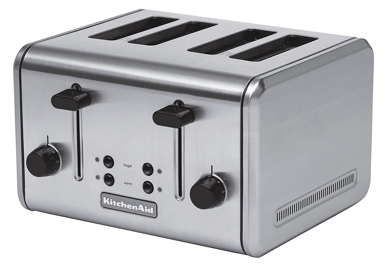 Amazon.com: Kitchenaid Stainless Steel 4 Slice Wide Toaster: Kitchen ...