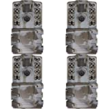Moultrie A-35 14MP 60' HD Video Low Glow Infrared Game Trail Camera (4 Pack)