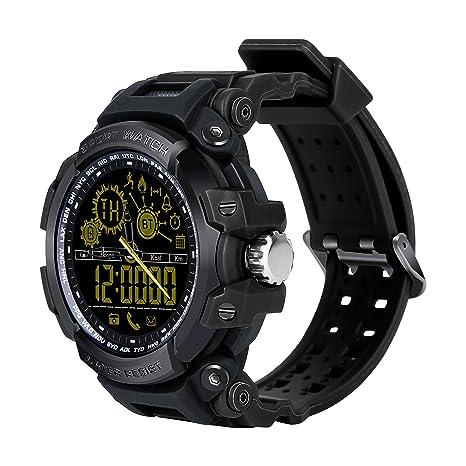 Bluetooth Smart Watch, TKSTAR Reloj Deportivo Nadar Watch dx16 Agua Densidad Fitness Tracker Sport Reloj