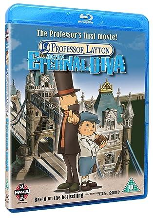 Amazon Com Professor Layton And The Eternal Diva Blu Ray
