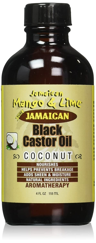 Jamaican Mango Black Castor Oil, Coconut, 4 Ounce Atlas Ethnic JM2261
