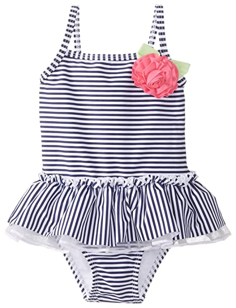 Amazon.com: Little Me Bebé Niña Nautical traje de baño: Clothing