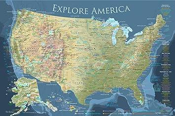 Amazon.com: GeoJango Maps National Parks Map and USA Travel ...