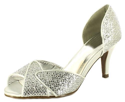 talla tacón unisex Amazon es EU 42 y plateado Michelle Anne adultos Zapatos con color complementos Zapatos qfgwx8t