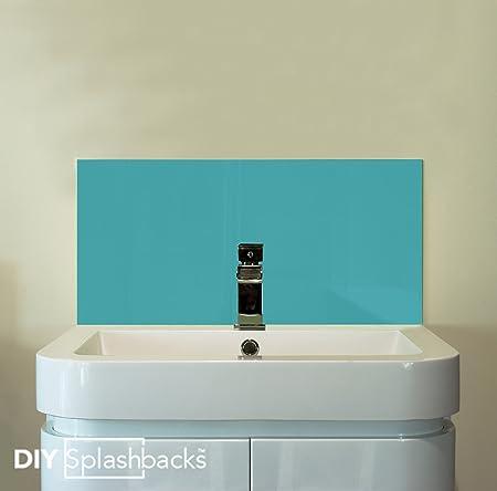 Charming Turquoise Glass Sink Splashback 60cm X 30cm