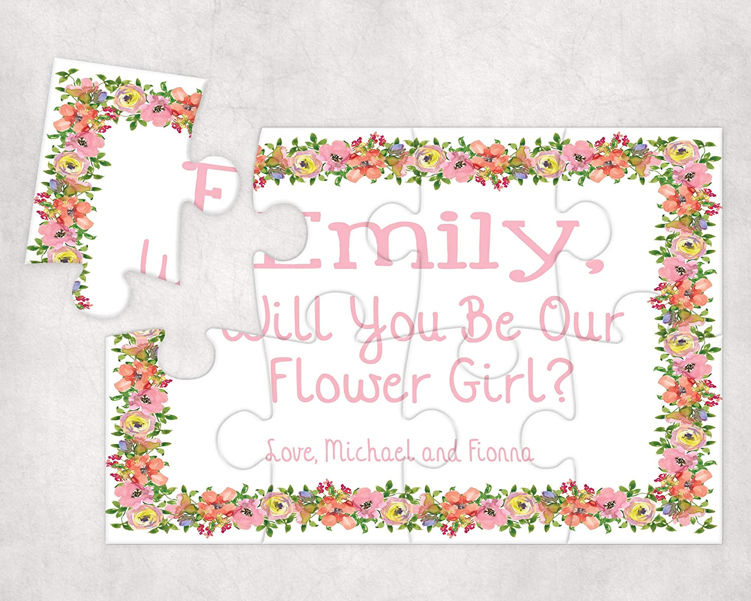 Pretty Phoxie Flower Girl Proposal Puzzle Will You Be My Flower Girl Custom Puzzle