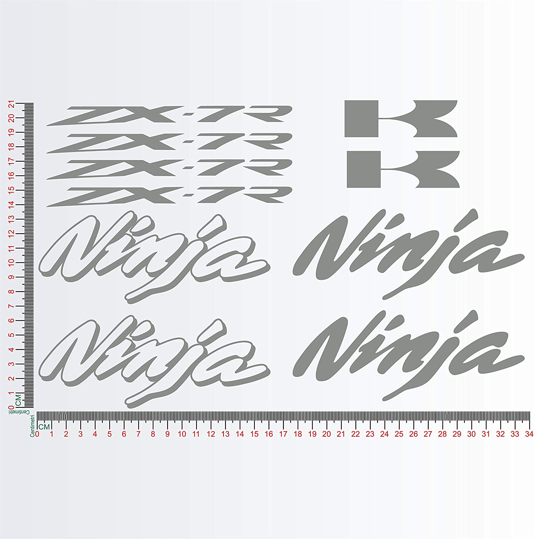 Kit Adesivi stickers compatibile KAWASA NINJA ZX-7R ZX7R moto decal cod.1155 010 BIANCO
