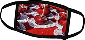 3dRose Red Apples Covered with Sugar Hard Boiling. Sweet Dessert - Face Covers (fc_276015_3)