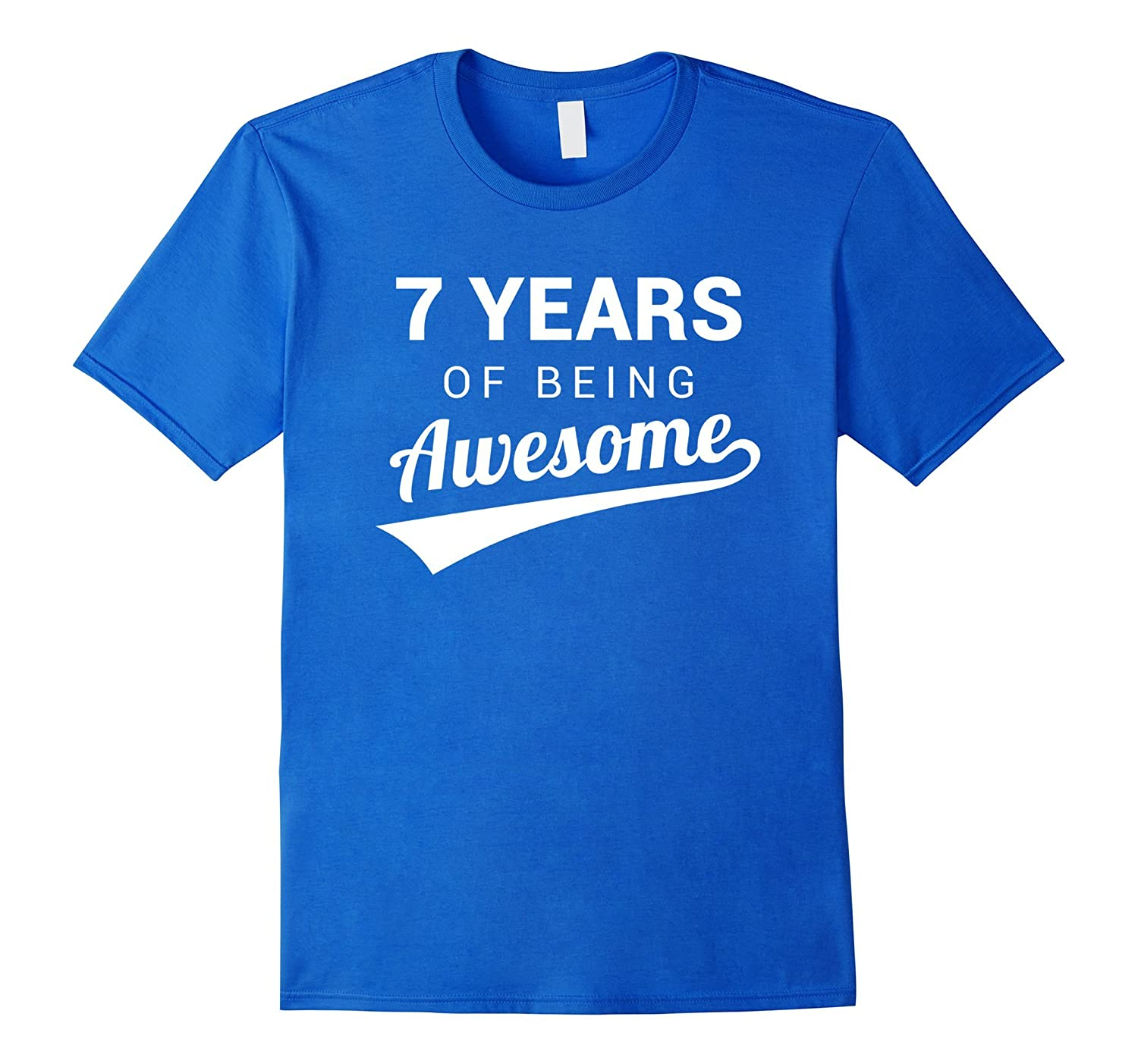 7th Birthday Gift Shirt Funny Awesome 7 Year Old Bday Idea BN
