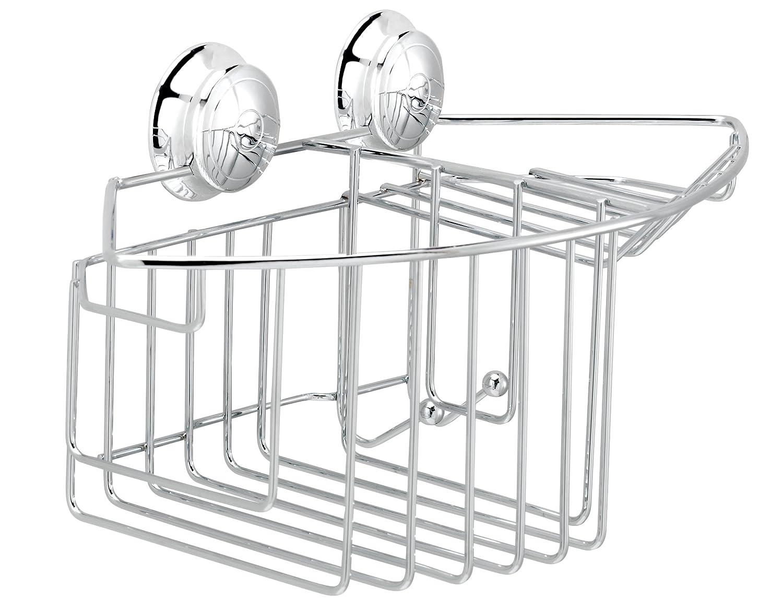 Croydex Twist \'N\' Lock Combination Storage Basket, Chrome: Amazon.co ...