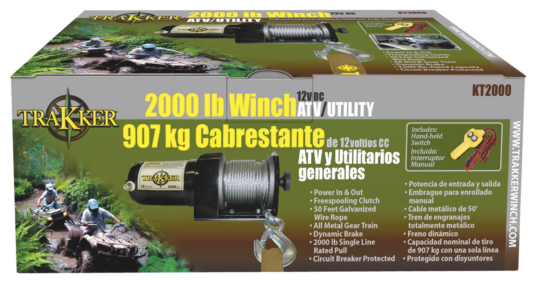 Keeper Corporation KT2000 Trakker 1-Horsepower 12 Volt Electric Winch - 2,000-Pound Capacity