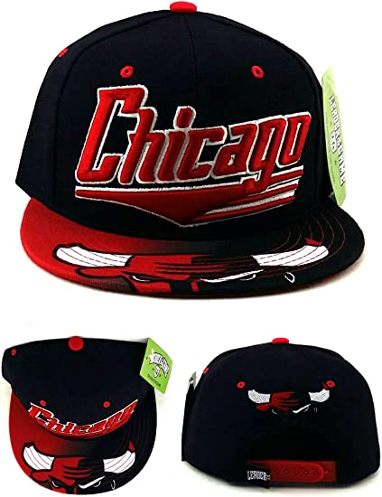 Detroit Michigan Red Box Snapback Hat Baseball Cap
