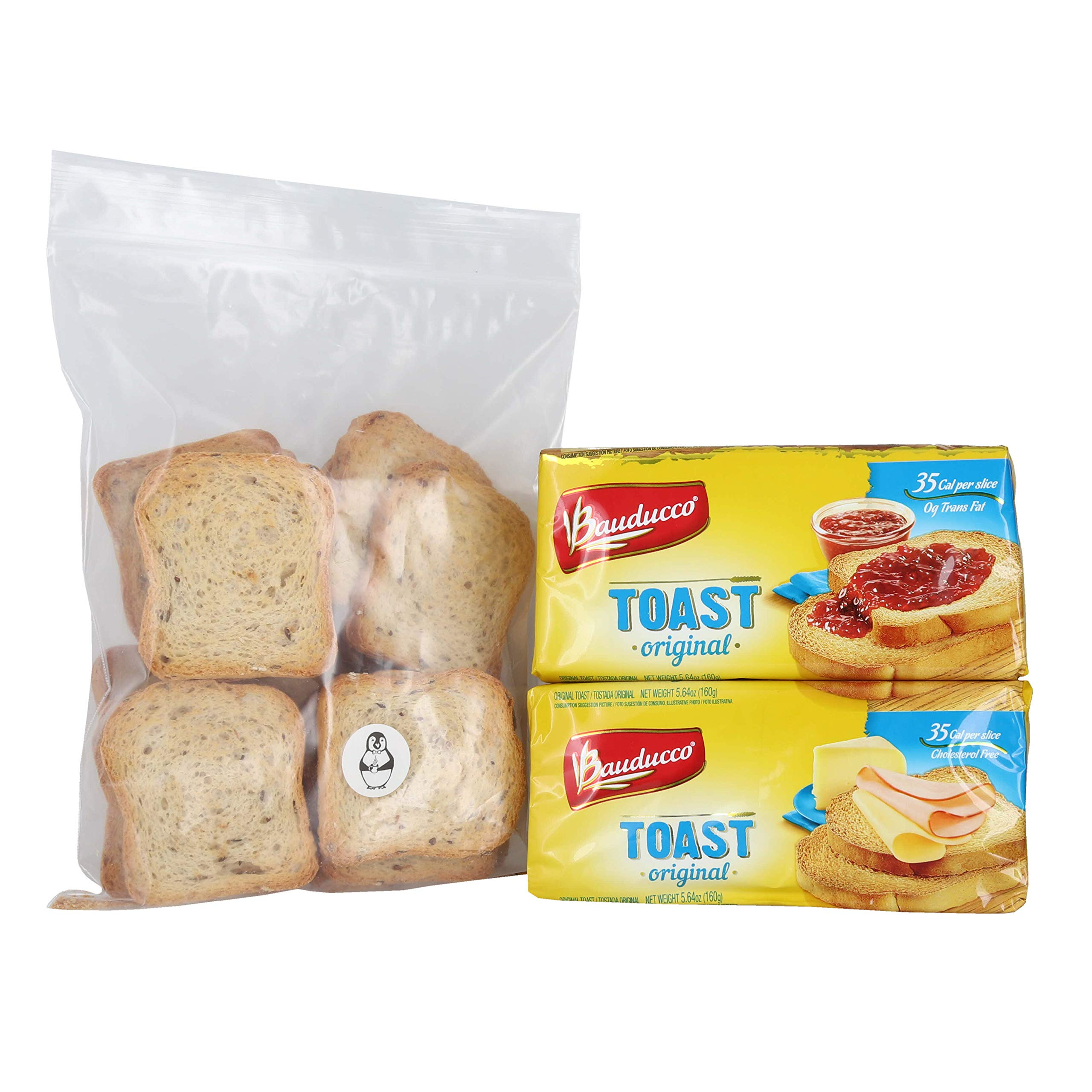 Bauducco Original Toast - (2 Pack) W/ Premium Penguin Quick Storage Pouch by Bauducco