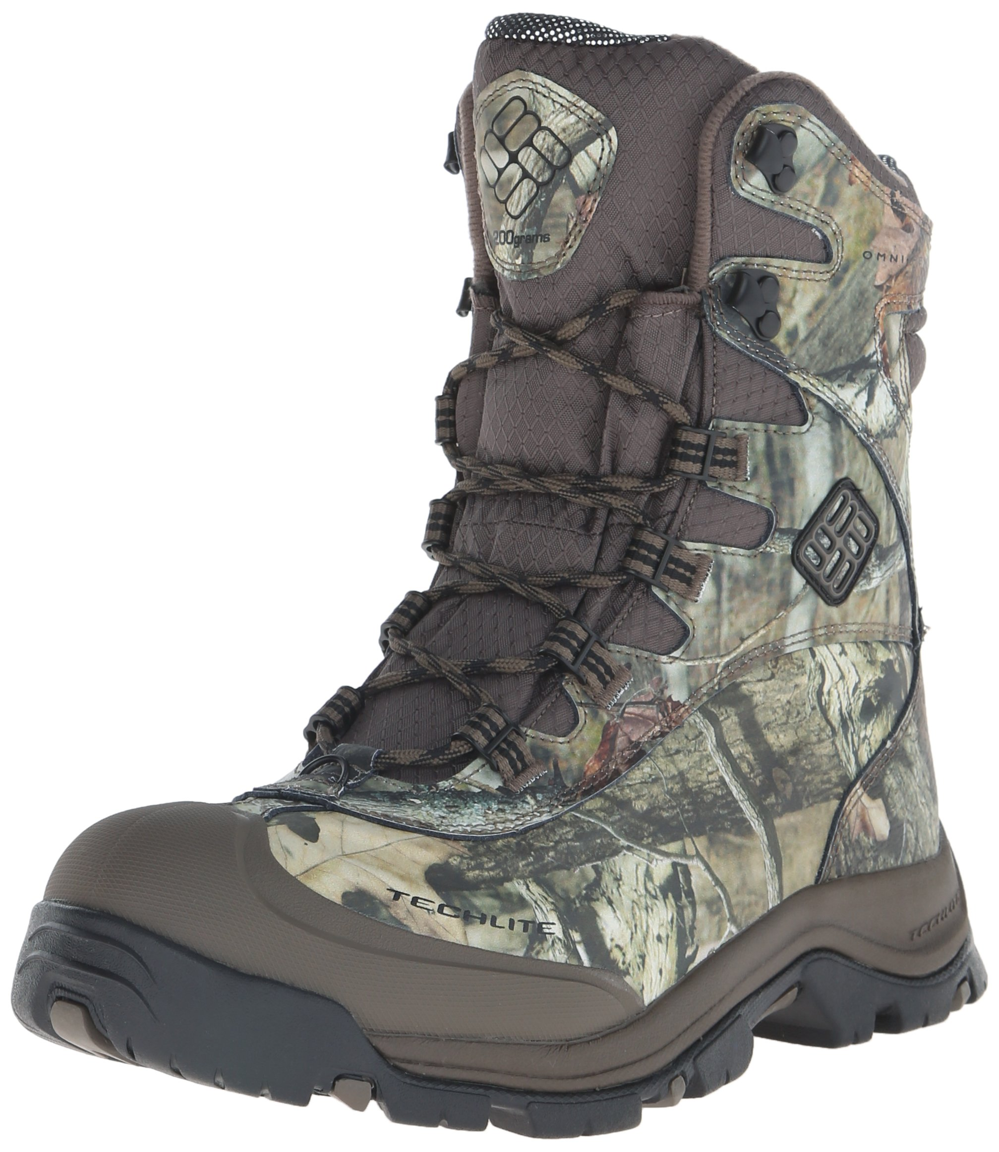 Columbia Men's Bugaboot Plus III Omni-Heat Camo Snow Boot, Mossy Oak, Black, 10 D US