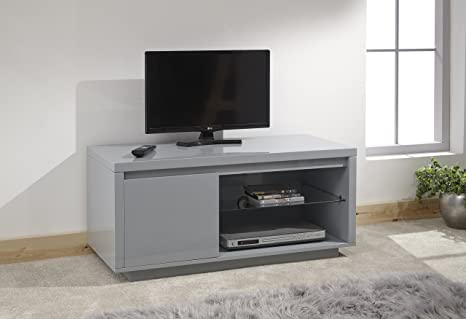 Gfw Furniture Polar High Gloss Modern Led Lit Coffee Table Side Table Tv Unit Greytv Unit