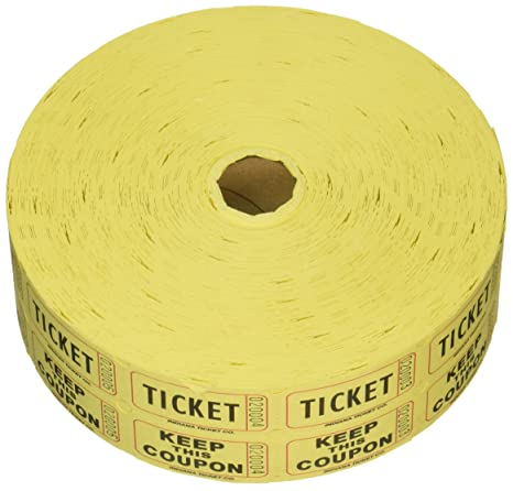 Easy To Read Double Roll Raffle Ticket Tower 50