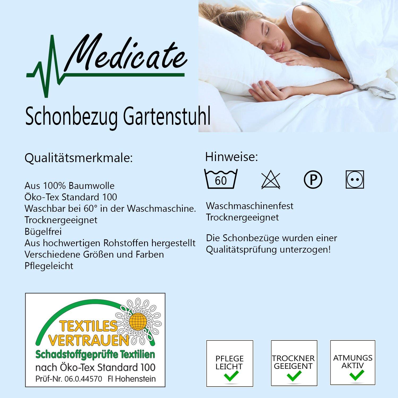 Medicate Frottee Schonbezug für Gartenstühle 100% Baumwolle 55x130 ...